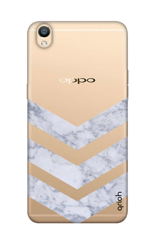 Marble Chevron Oppo R9 Cases & Covers Online