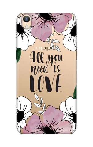 All You Need is Love Oppo R9 Cases & Covers Online