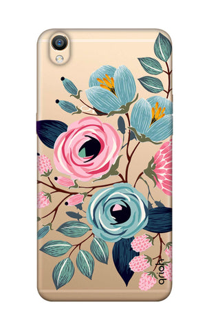 Pink And Blue Floral Oppo R9 Cases & Covers Online