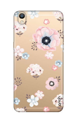 Beautiful White Floral Oppo R9 Cases & Covers Online
