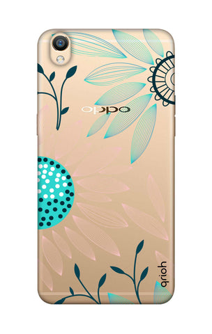 Pink And Blue Petals Oppo R9 Cases & Covers Online