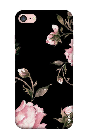 Pink Roses On Black iPhone 7 Cases & Covers Online