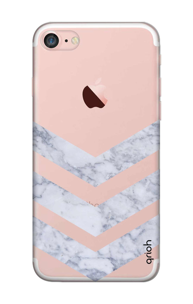 a7a4c5c097 Marble Chevron iPhone 7 Back Cover - Flat 35% Off On iPhone 7 Covers –  Qrioh.com