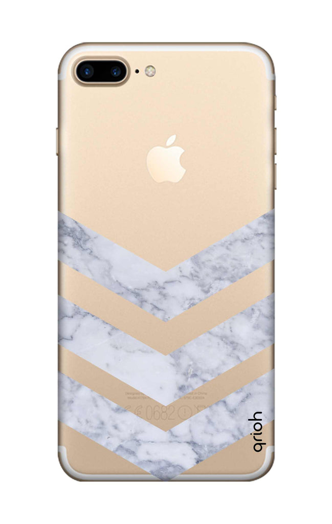 555fc152a3 Marble Chevron iPhone 7 Plus Back Cover - Flat 35% Off On iPhone 7 Plus  Covers – Qrioh.com