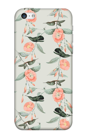 Bird & Floral Pattern iPhone 5C Cases & Covers Online