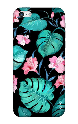 Tropical Leaves & Pink Flowers iPhone 5C Cases & Covers Online