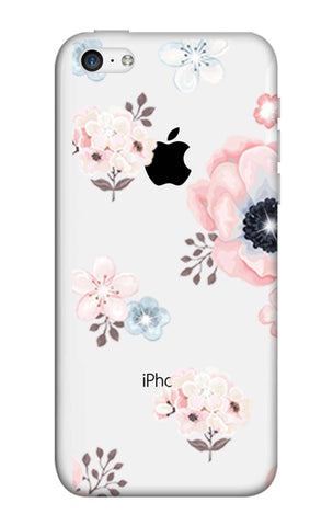 Beautiful White Floral iPhone 5C Cases & Covers Online
