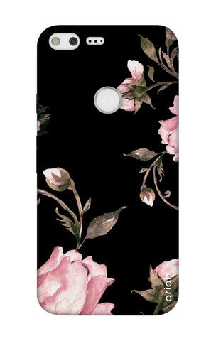 Pink Roses On Black Google Pixel XL Cases & Covers Online