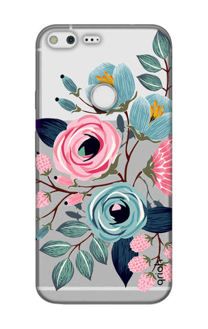 Pink And Blue Floral Google Pixel XL Cases & Covers Online
