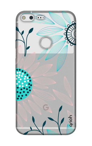 Pink And Blue Petals Google Pixel XL Cases & Covers Online