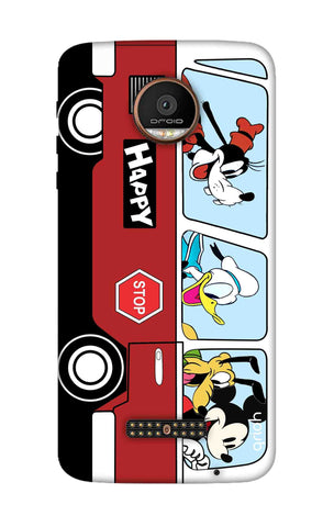 Cartoon Bus Motorala Moto Z Force Cases & Covers Online