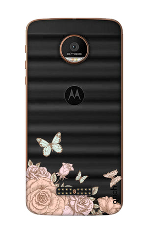 Flower And Butterfly Motorala Moto Z Force Cases & Covers Online