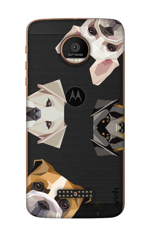 Geometric Dogs Motorala Moto Z Force Cases & Covers Online