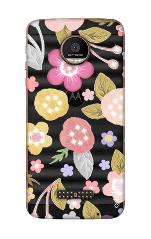 Multi Coloured Bling Floral Motorala Moto Z Force Cases & Covers Online