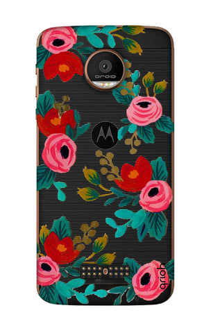 Red Floral Motorala Moto Z Force Cases & Covers Online
