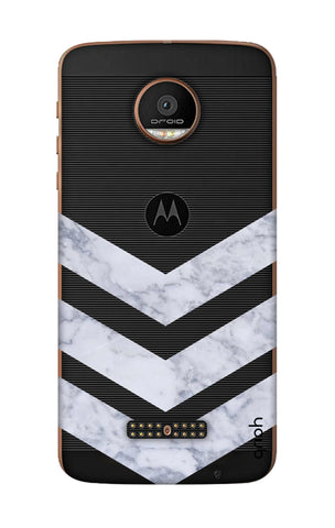 Marble Chevron Motorala Moto Z Force Cases & Covers Online