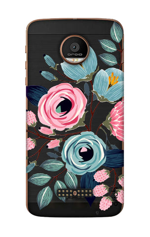 Pink And Blue Floral Motorala Moto Z Force Cases & Covers Online