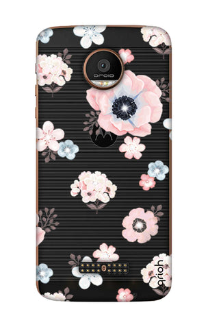 Beautiful White Floral Motorala Moto Z Force Cases & Covers Online