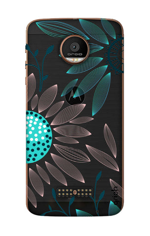 Pink And Blue Petals Motorala Moto Z Force Cases & Covers Online