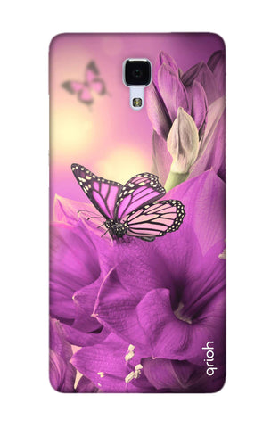 Purple Butterfly Xiaomi Mi 4 Cases & Covers Online