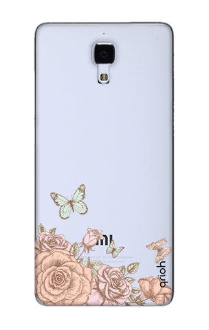 Flower And Butterfly Xiaomi Mi 4 Cases & Covers Online