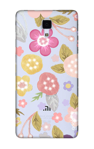 Multi Coloured Bling Floral Xiaomi Mi 4 Cases & Covers Online