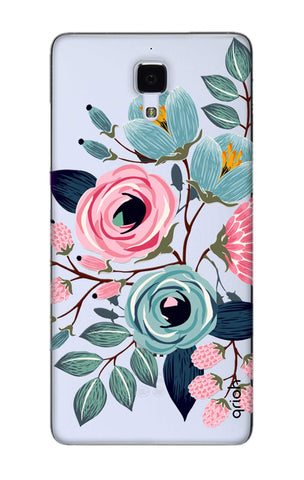 Pink And Blue Floral Xiaomi Mi 4 Cases & Covers Online
