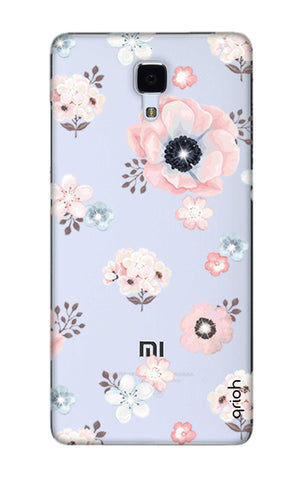 Beautiful White Floral Xiaomi Mi 4 Cases & Covers Online