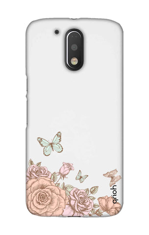 Flower And Butterfly Motorala Moto G4 Play Cases & Covers Online