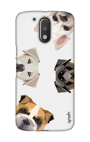 Geometric Dogs Motorala Moto G4 Play Cases & Covers Online