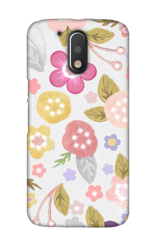 Multi Coloured Bling Floral Motorala Moto G4 Play Cases & Covers Online