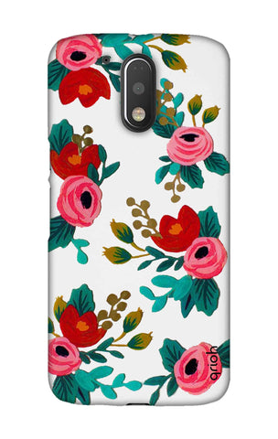 Red Floral Motorala Moto G4 Play Cases & Covers Online
