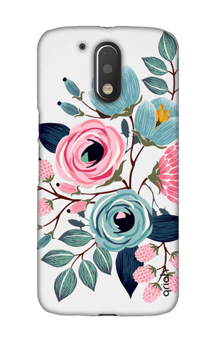 Pink And Blue Floral Motorala Moto G4 Play Cases & Covers Online