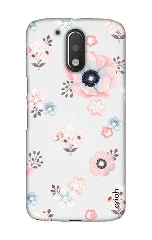 Beautiful White Floral Motorala Moto G4 Play Cases & Covers Online
