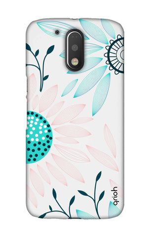 Pink And Blue Petals Motorala Moto G4 Play Cases & Covers Online