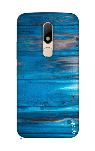 Blue Wooden Motorala Moto M Cases & Covers Online