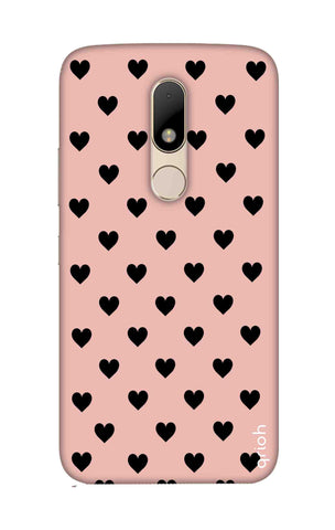 Black Hearts On Pink Motorala Moto M Cases & Covers Online