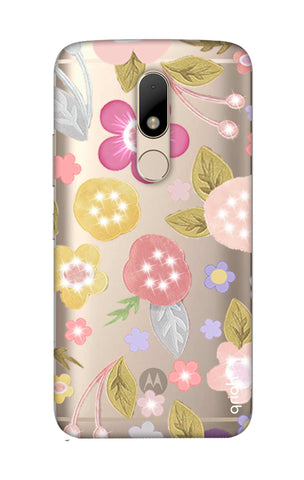 Multi Coloured Bling Floral Motorala Moto M Cases & Covers Online