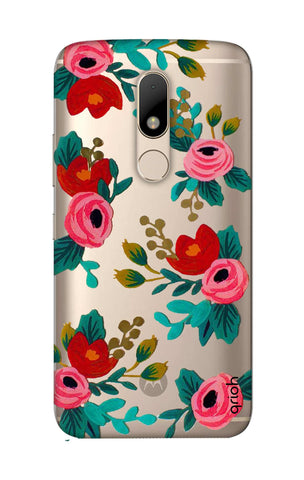 Red Floral Motorala Moto M Cases & Covers Online