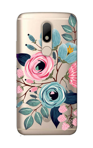 Pink And Blue Floral Motorala Moto M Cases & Covers Online