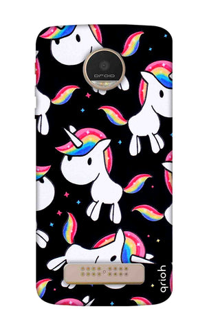 Colourful Unicorn Motorala Moto Z Play Cases & Covers Online