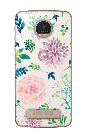 Lillies, Orchids And Leaves Motorala Moto Z Play Cases & Covers Online