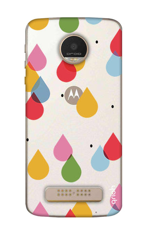 Colourful Drops Motorala Moto Z Play Cases & Covers Online