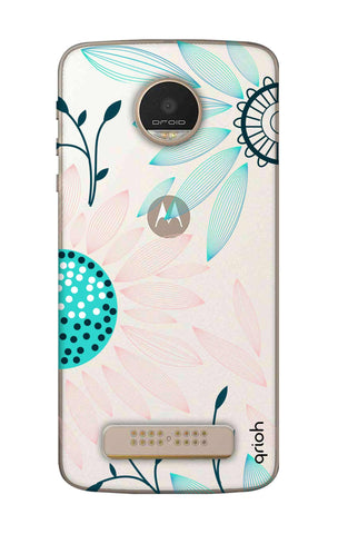 Pink And Blue Petals Motorala Moto Z Play Cases & Covers Online
