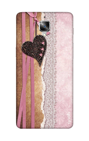 Heart in Pink Lace OnePlus 3T Cases & Covers Online