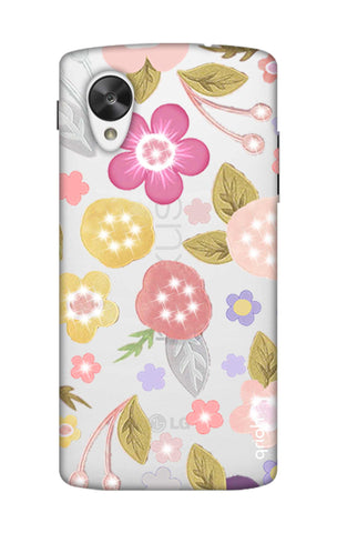 Multi Coloured Bling Floral Nexus 5 Cases & Covers Online