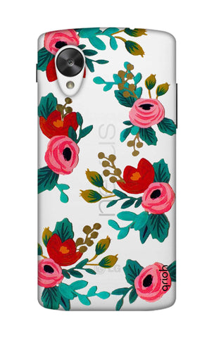 Red Floral Nexus 5 Cases & Covers Online