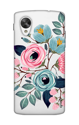Pink And Blue Floral Nexus 5 Cases & Covers Online