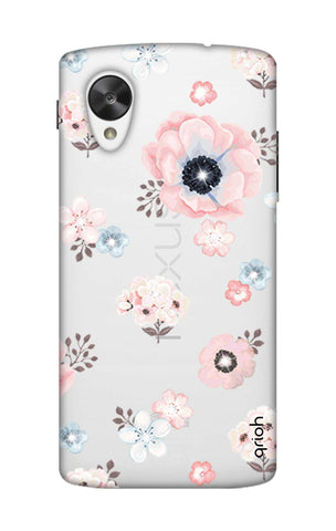 Beautiful White Floral Nexus 5 Cases & Covers Online