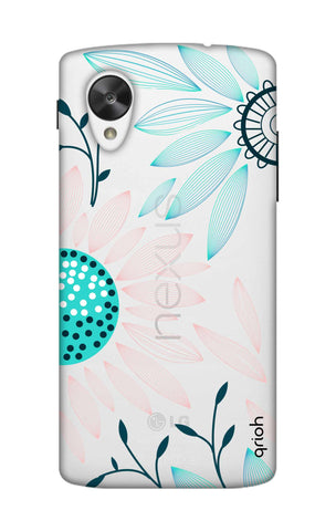 Pink And Blue Petals Nexus 5 Cases & Covers Online